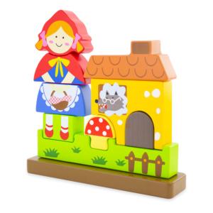 Puzzle magnétique en bois Le Petit Chaperon rouge