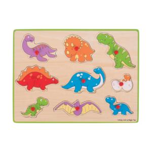 Puzzle à boutons en bois Dinosaures