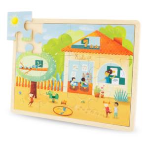 Puzzle en bois 12 pièces École