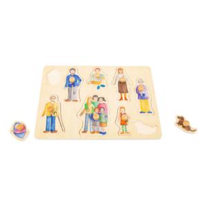 Puzzle à boutons en bois Famille