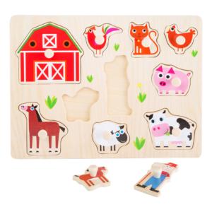 Puzzle à boutons en bois Animaux de la ferme