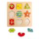 Puzzle à boutons en bois Formes