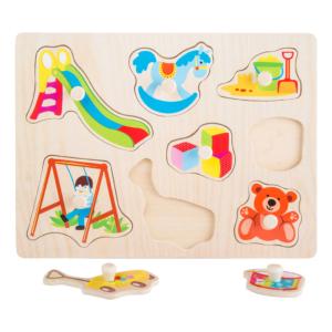Puzzle à boutons en bois Jeux