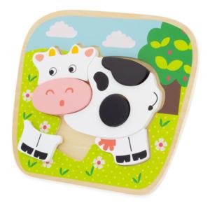 Puzzle en bois Vache