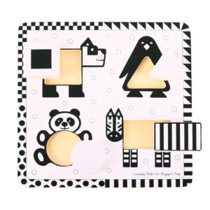 Puzzle noir & blanc Animaux sauvages