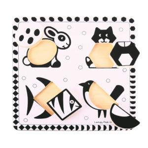 Puzzle noir & blanc Animaux domestiques