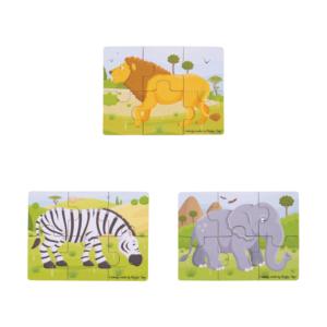 Puzzles 6 pièces Animaux de la savane